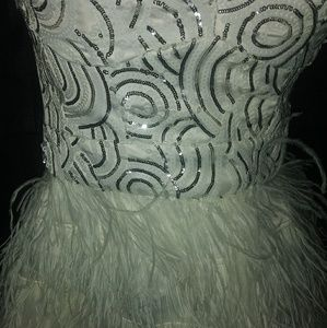 bebe Dresses - Bebe Isis Feather and Sequin Dress
